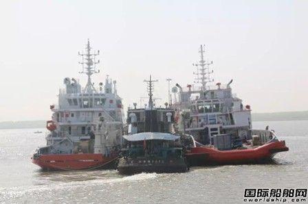 双柳武船2艘近海工作船顺利同时离厂