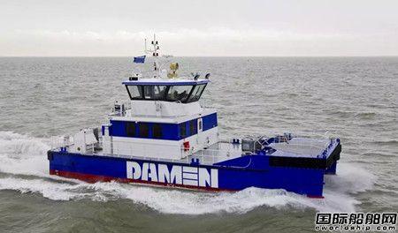 达门推出双体式全铝合金海上风电运维船