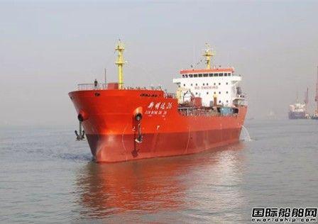 江苏海通一艘13800吨油船试航归来