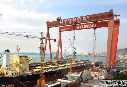 现代重工获5艘14300TEU集装箱船订单