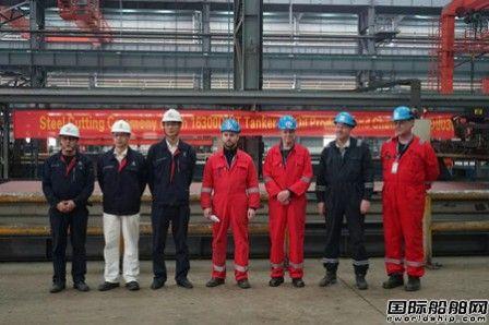 中航鼎衡16300吨双燃料化学品船6#船开工