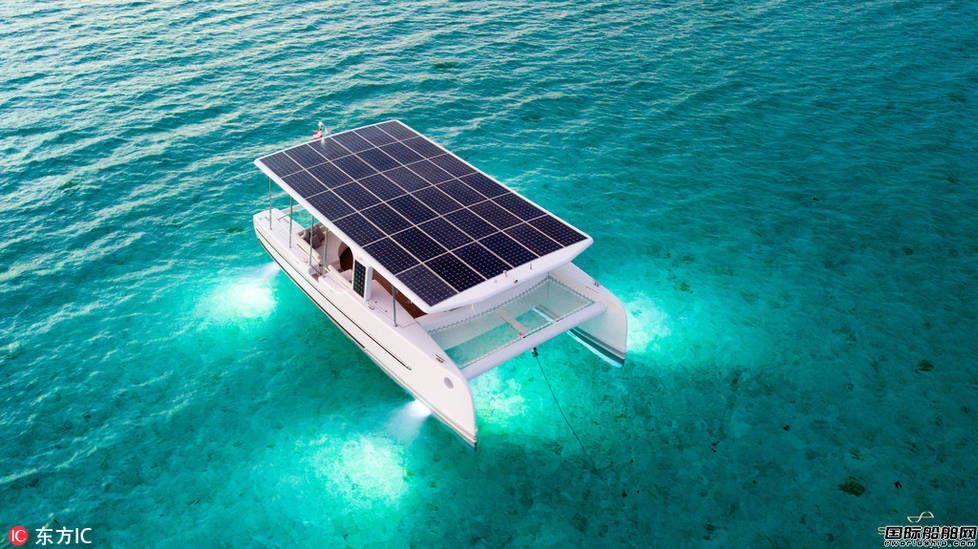 荷兰公司推出太阳能双体船 清洁零排放堪称漂浮式电站