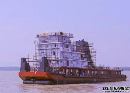 """紫金山船厂""""长江64001"""" 轮顺利下水"""