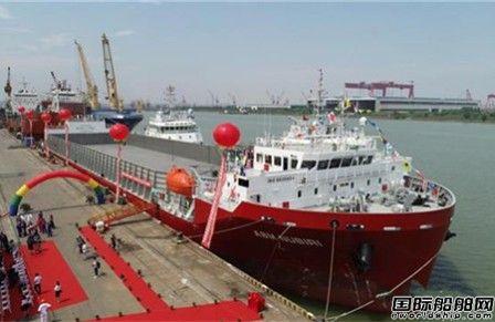 武船交付首制全国产13000吨甲板运输船