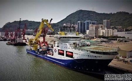 """""""海洋石油287""""船执行第一个饱和潜水项目作业"""