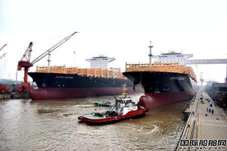创记录!扬子江船业两艘11800TEU出坞