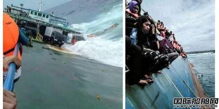 印尼一车客渡船进水致34人死亡