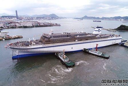 三菱重工一艘大型客渡船命名下水
