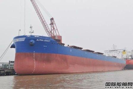 新扬子造船交付一艘82000吨散货船
