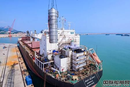 国内首套船舶脱硫洗涤系统在荣成出口交付