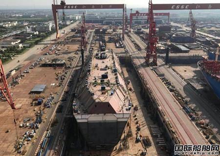 沪东中华两型船完成大节点