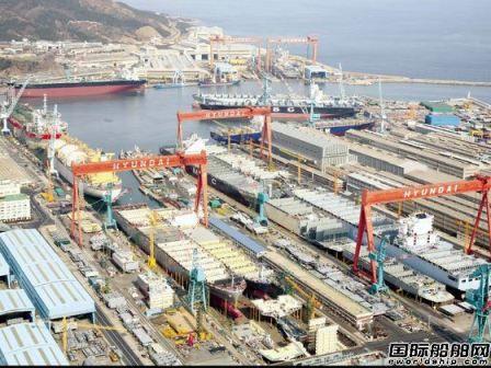 现代重工工人罢工抗议关闭海工船厂