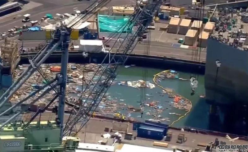 美qg777娱乐在建船坞闸门发生垮塌事故