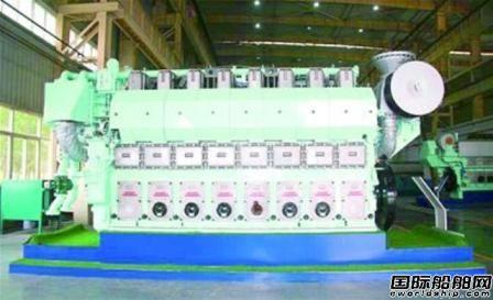 淄柴博洋自主研制大功率双燃料船用发动机下线