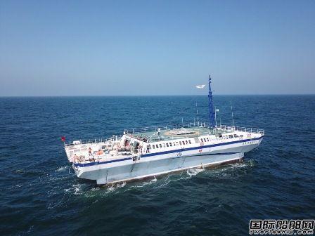 """""""威海南海·海梦""""号海洋资源调查船进行""""体检"""""""