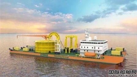 """马尾造船电缆施工船""""启帆9号""""完成设备调试"""