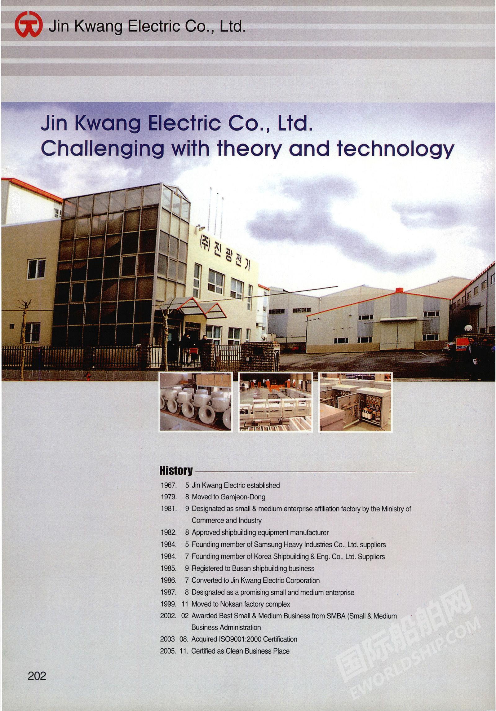 JIN KWANG ELECTRIC CO., LTD. 企业样本