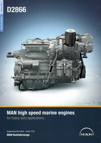 MAN D2866 船用高速发动机样本